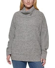 Plus Size Oversized Turtleneck Sweater