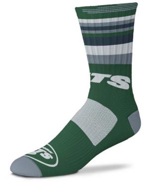 Men's and Women's New York Green Jets Rave Crew Socks