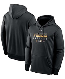 Men's Black Pittsburgh Pirates Authentic Collection Therma Performance Pullover Hoodie