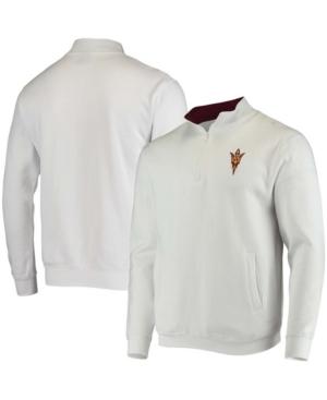 Men's White Arizona State Sun Devils Tortugas Logo Quarter-Zip Jacket
