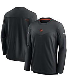 Men's Black Cincinnati Bengals Sideline Team Performance Pullover Sweatshirt