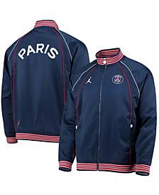 Men's Navy Paris Saint-Germain Club Anthem Raglan Full-Zip Jacket