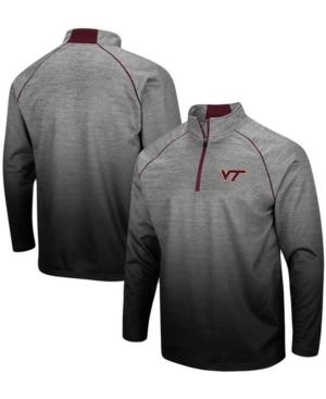 Men's Heather Gray Virginia Tech Hokies Sitwell Sublimated Quarter-Zip Pullover Jacket