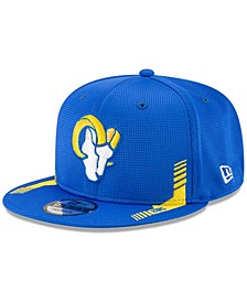 Youth Girl's and Boy's Royal Los Angeles Rams Sideline Home 9Fifty Snapback Hat