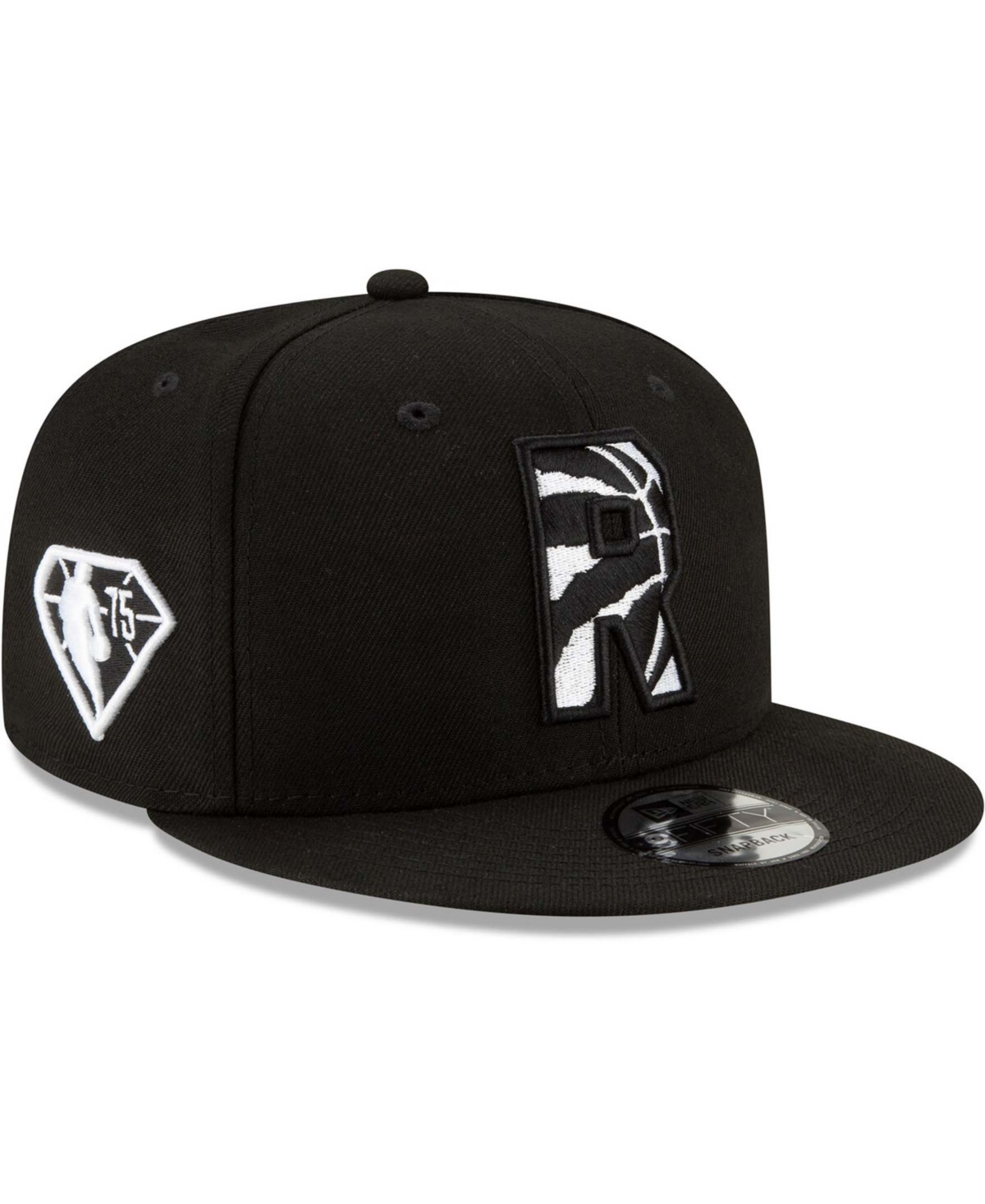 Men's Black Toronto Raptors 2021 Nba Draft Alternate 9Fifty Snapback Hat