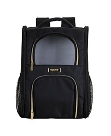 Soft Sided Multi-Entry Collapsible Travel Pet Carrier Backpack With Removable Lining