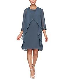 Bead-Embellished Sheath Dress & Jacket