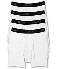 Hanes Men's Platinum FreshIQ™ Underwear, Boxer Brief 4 Pack