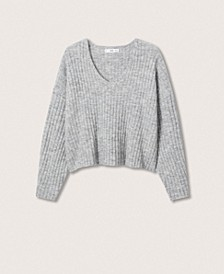 Women's Cropped Ribbed Sweater