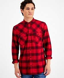 Men's Regular-Fit Plaid Flannel Shirt, Created for Macy's
