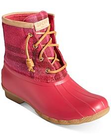 Women's Saltwater Wool Plaid Duck Boots