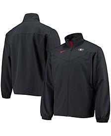 Men's Black Georgia Bulldogs 2021 Sideline Full-Zip Jacket