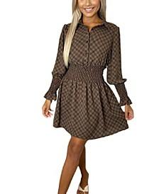 Women's Elasticated Print Waist Dress