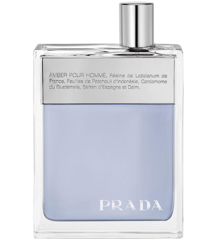 Prada Men's Amber Pour Homme Eau de Toilette Spray, 3.4 oz