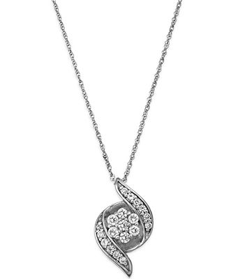 Wrapped in love diamond pendant necklace in 14k white gold 14 ct wrapped in love diamond pendant necklace in 14k white gold 14 ct aloadofball Choice Image