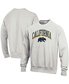 Men's Heathered Gray Cal Bears Arch Over Logo Reverse Weave Pullover Sweatshirt