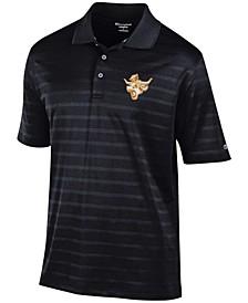 Men's Black Texas Longhorns Throwback Logo Textured Solid Polo Shirt