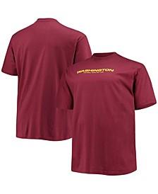 Men's Big and Tall Burgundy Washington Football Team Logo T-shirt