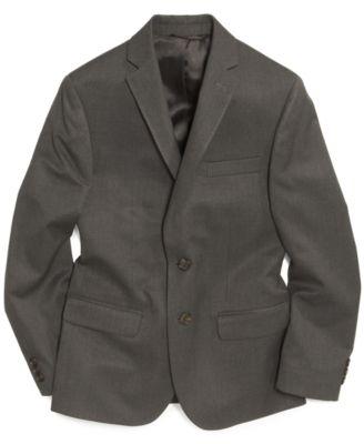 Solid Grey Suit Jacket, Big Boys