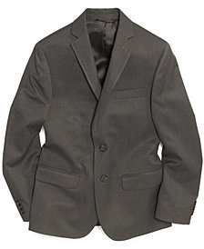 Lauren Ralph Lauren Solid Grey Suit Jacket, Big Boys Husky