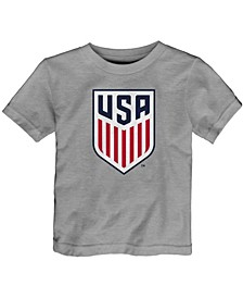 Toddler Heathered Gray US Soccer Primary Logo T-shirt
