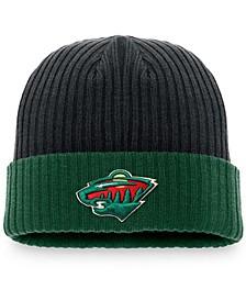 Men's Black Minnesota Wild Core Primary Logo Cuffed Knit Hat