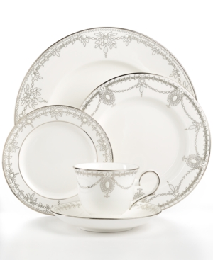 Marchesa by Lenox Dinnerware, Empire Pearl 5 Piece Place Set