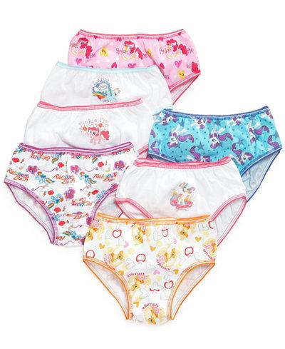 My Little Pony Cotton Underwear 7 Pack Little Girls