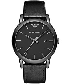 Men's Black Leather Strap Watch 41mm AR1732