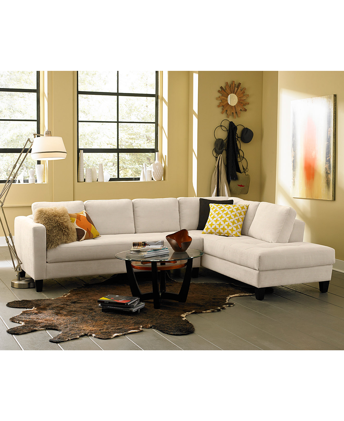 Living Room Furniture Sofas Rylee Fabric Sectional Sofa Living Room Furniture Collection