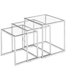Heather Glass Nesting Tables, Quick Ship