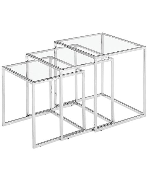 Furniture heather glass nesting tables quick ship furniture macys heather glass nesting tables quick ship watchthetrailerfo
