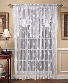 "Saturday Knight Sheer Butterflies Lace 56"" x 84"" Panel"