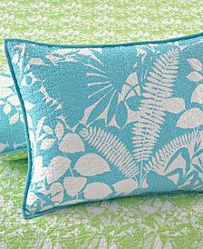 Martha Stewart Collection  100% Cotton Paradise Palm Standard Sham