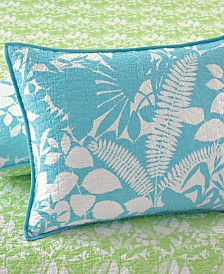 Martha Stewart Collection  100% Cotton Paradise Palm Standard Sham