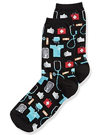 Women's Doctor Fashion Crew Socks