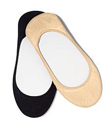 HUE® Women's Microfiber No Show Socks