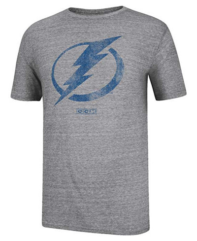 CCM Men's Short-Sleeve Tampa Bay Lightning Bigger Logo T-Shirt