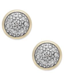 Diamond Accent Stud Earrings in 14k Gold