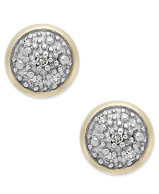 Diamond Accent Stud Earrings in 14k Gold
