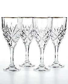 Godinger Dublin Platinum Goblets, Set of 4