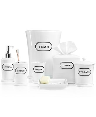 Closeout Martha Stewart Collection Porcelain Words Frame Bath Accessories Collection Created