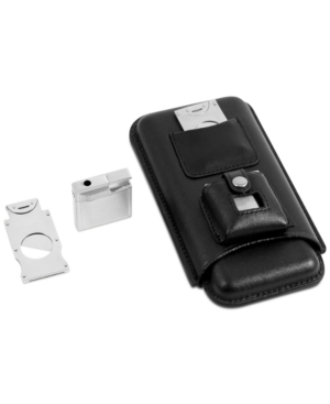 Leather Holder Set for Three Cigars