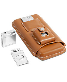 Bey-Berk Leather Holder Set for Three Cigars