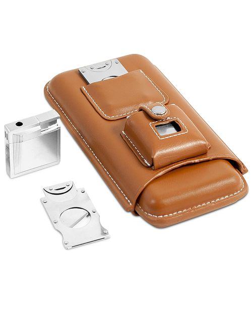 Bey-Berk Leather Holder Set for Three Cigars