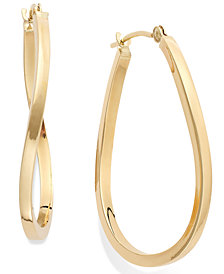 Twist Hoop Earrings in 10k Gold