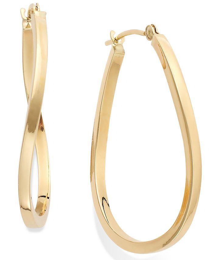 Macy's - Twist Hoop Earrings in 10k Gold