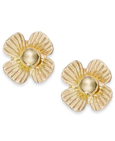 Clover Stud Earrings in 10k Gold