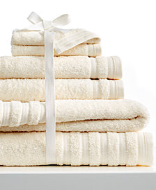 Baltic Linens 6-Pc Pure Elegance Bath Towel Set, 100% Turkish Cotton, Pure Elegance
