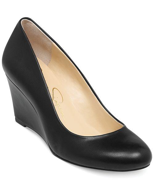 aeed7e6ba4e8 Jessica Simpson Sampson Wedge Pumps   Reviews - Pumps - Shoes - Macy s